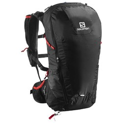 Salomon Peak 30L Backpack- Black Bright Red