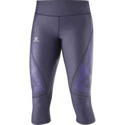 Salomon Intensity 3/4 Womens Running Tights  - Nightshade Grey