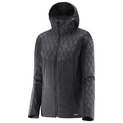 Salomon Drifter Mid Hoodie - Womens Reversible Jacket - Black /Black