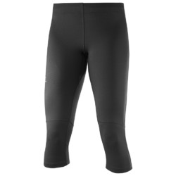 Salomon Agile Womens 3/4 Running Tights - Black