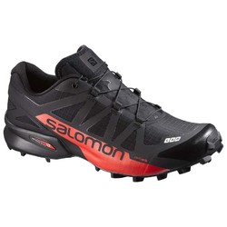 Salomon S/Lab Speedcross Unisex Trail Running Shoes - Black/Racing Red