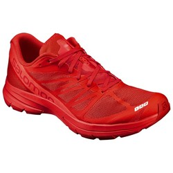 Salomon S/Lab Sonic 2 Unisex Running Shoes - Racing Red/Molten Lava/White