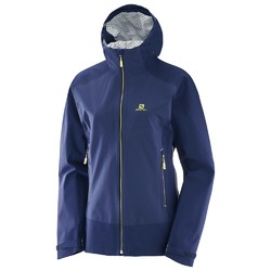 Salomon La Cote Stretch 2.5L Womens Waterproof and Windproof Active Jacket - Medieval Blue Deep Cobalt