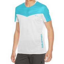 Salomon S/Lab Sense Mens Lightweight Running Tee S17 - White/Transcend Blue