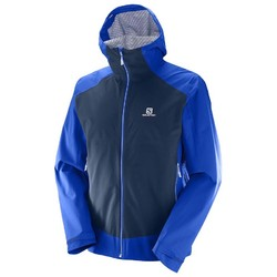 Salomon La Cote Stretch 2.5L Mens Waterproof and Windproof Active Jacket - Surf The Web Dress Blue
