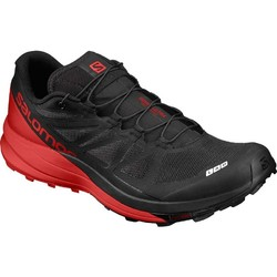 Salomon S-Lab Sense Ultra Unisex Trail Running Shoes - Black/Racing Red/White