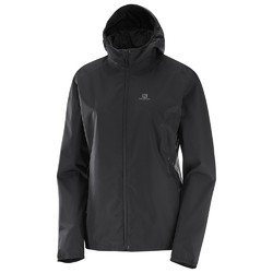 Salomon Essential Womens Waterproof Jacket - Black