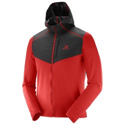 Salomon Discovery Mens Wind Hoodie Fleece - Matador Black