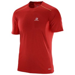 Salomon Trail Runner Mens Short Sleeve Running Shirt- Matador