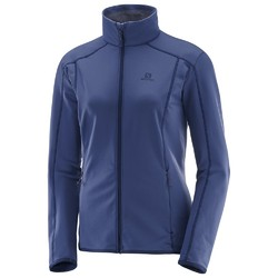 Salomon Discovery Womens Full Zip Fleece - Deep Cobalt