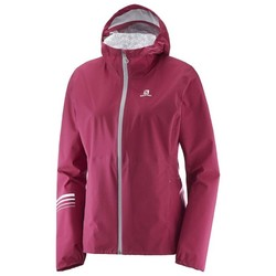 Salomon Lightning Waterproof Womens Jacket - Beet Red