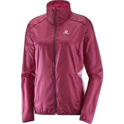 Salomon Agile Wind Womens Jacket - Beet Red