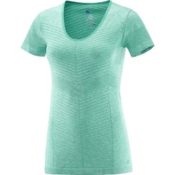Salomon Elevate Seamless Short Sleeve Tee Womens- Dynasty Green