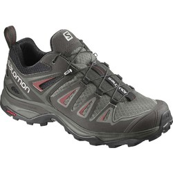 Salomon X Ultra 3 Womens Hiking Shoes - Shadow/Castor Gray/Mineral Red