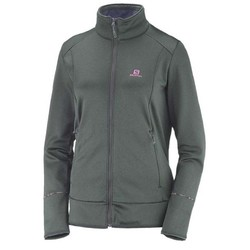 Salomon Discovery Full Zip Womens Fleece Jacket S18- Urban Chic Heather