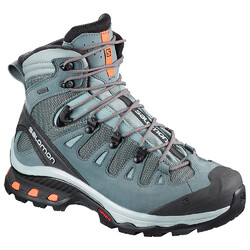 Salomon Quest 4D 3 Goretex Womens Waterproof Hiking Boots - Lead/Stormy