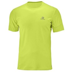Salomon Agile Mens Short Sleeve Running Tee S18 - Acid Lime