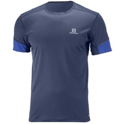 Salomon Agile Mens Short Sleeve Running Tee S18 - Dress Blue