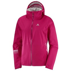 Salomon Lightning Waterproof Womens Jacket - Cerise