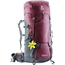 Deuter Aircontact Lite 60+10L Sl Backpack - Maron-Grpht