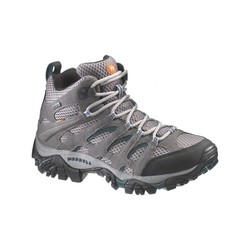 Merrell Moab Mid Womens Goretex Hiking Shoes - Pewter Bluegrass