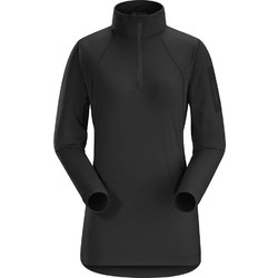 Arcteryx Rho LT Zip Neck Womens Base Layer - Black