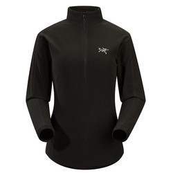 Arcteryx Delta Lt Zip Womens Fleece- Black