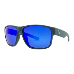 Venture Eyewear Summit Polarised Sunglasses - Matte Blk/Blue Revo