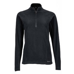 Marmot Womens Rocklin Fleece 1/2 Zip - Black
