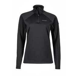 Marmot Womens Stretch Fleece 1/2 Zip - Black