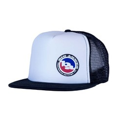 Big Agnes Logo Trucker Hat Flat Brim - Black