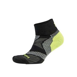Balega Enduro Vtech Quarter Socks - Black/Grey/Neon Yellow
