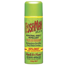 Bushman Plus Aerosol 20% Deet Insect Repellent with Sunscreen - 150 gm