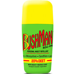 Bushman Roll-On 20% Deet Insect Repellent - 65 gm