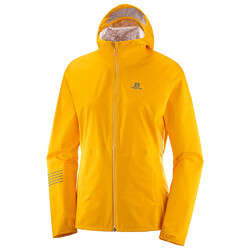 Salomon Lightning Womens Waterproof Jacket - Saffron