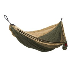 Grand Trunk Double Parachute Nylon Hammock  - Olive Green/Khaki
