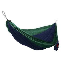 Grand Trunk Double Parachute Nylon Hammock  - Blue/Green