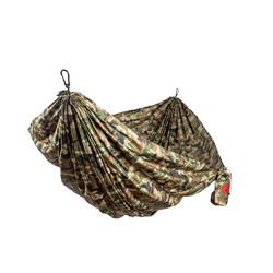 Grand Trunk Double Parachute Printed Nylon Hammock  - Woodland Camo