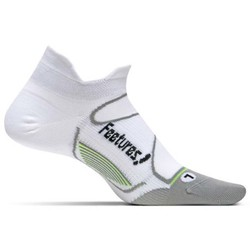 Feetures Elite Ultra Light Cushion No-Show Tab Running Sock - White/Black