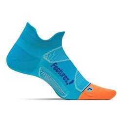 Feetures Elite Ultra Light Cushion No-Show Tab Running Sock - Blue Lagoon/Cobalt