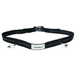Fuel Belt Reflective Race Number Belt - Black
