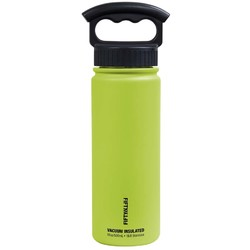 FIFTY/FIFTY 18oz/530ml Vacuum-Insulated Water Bottle- Lime Green