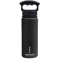 FIFTY/FIFTY 18oz/530ml Vacuum-Insulated Water Bottle- Matte Black