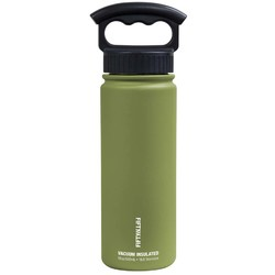 FIFTY/FIFTY 18oz/530ml Vacuum-Insulated Water Bottle- Olive Green