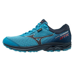 Mizuno Wave Rider Goretex Mens Waterproof Trail Running Shoes - Bluejay/Graphite/Flame.S