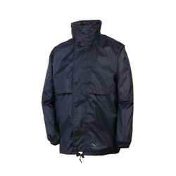 Rainbird Childrens Stowaway Waterproof Packable Rain Jacket - Navy