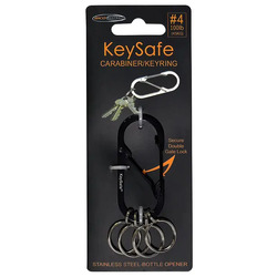 Bico KeySafe Oval #4 Carabiner - Black