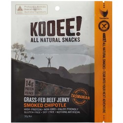 Kooee Snacks Grass-Fed Beef Jerky - Smoked Chipotle - 30G