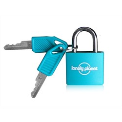Lonely Planet Travel Padlock And Keys 2 Pack - Teal