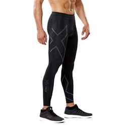2XU Mens MCS Run Compression Tights - Black/Nero Reflective